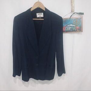 90s vintage Kasper for ASL plaid blazer jacket